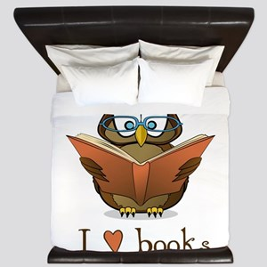 Book Owl I Love Books King Duvet
