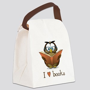 Book Owl I Love Books Canvas Lunch Bag