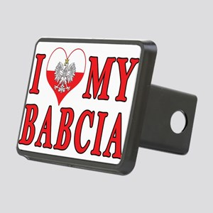 I Heart My Babcia Rectangular Hitch Cover