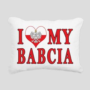 I Heart My Babcia Rectangular Canvas Pillow