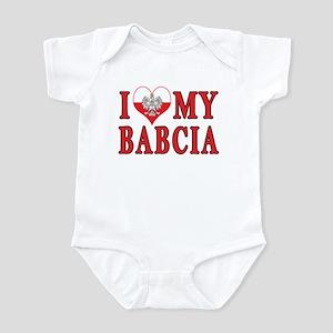 I Heart My Babcia Infant Bodysuit