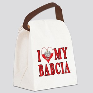 I Heart My Babcia Canvas Lunch Bag