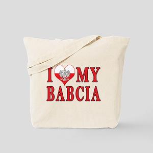 I Heart My Babcia Tote Bag