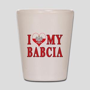 I Heart My Babcia Shot Glass