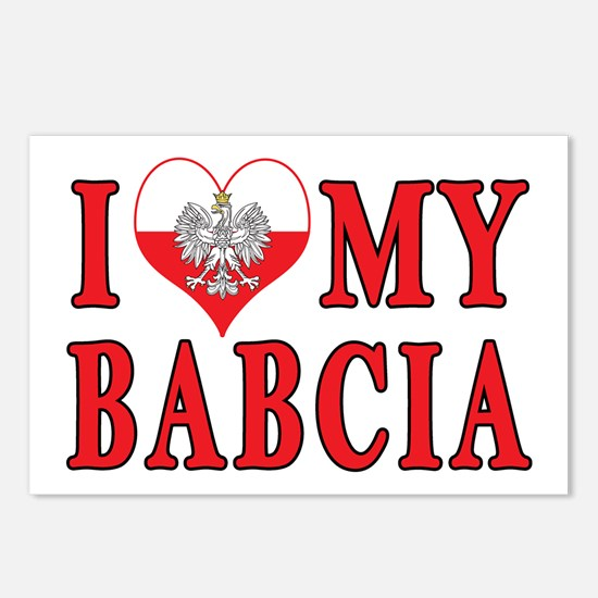 I Heart My Babcia Postcards (Package of 8)