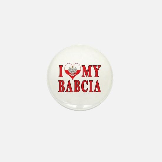 I Heart My Babcia Mini Button