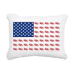American Flag made of Snowmobiles Rectangular Canv
