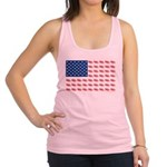 American Flag made of Snowmobiles Racerback Tank T