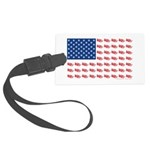 American Flag made of Snowmobiles Large Luggage Ta