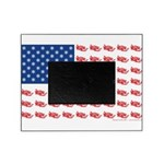 American Flag made of Snowmobiles Picture Frame