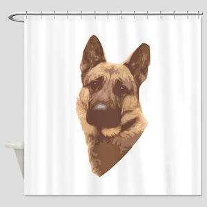 german-shepard3 Shower Curtain