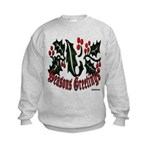 Christmas Holly Kids Sweatshirt