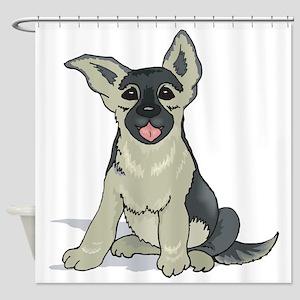 germ-shep-pup Shower Curtain