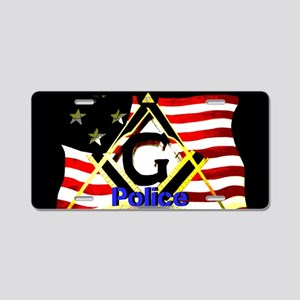 American Masonic Police Aluminum License Plate