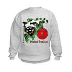 Christmas Tree Red Ball Kids Sweatshirt