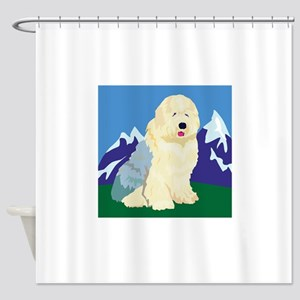 old-english-sheep,png Shower Curtain