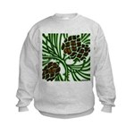 Christmas Pine Cone Kids Sweatshirt