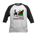 Christmas Santa Sleigh Reindeer Kids Baseball Jers