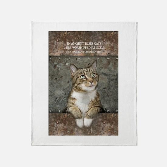 Ancient Cat Throw Blanket