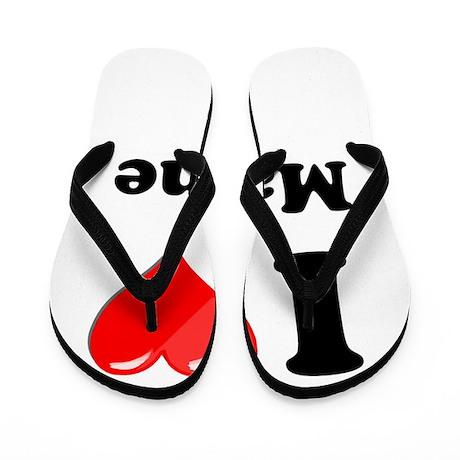 I Heart Love Maine Flip Flops