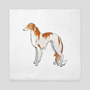 russian-wolfhound Queen Duvet
