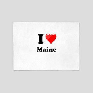 I Heart Love Maine 5'x7'Area Rug