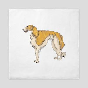 borzoi-hound Queen Duvet