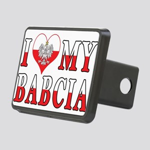I Heart My Babcia Flag Rectangular Hitch Cover