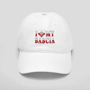 I Heart My Babcia Flag Cap
