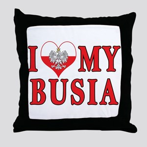 I Heart My Busia Throw Pillow