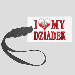 I Heart My Dziadek Large Luggage Tag
