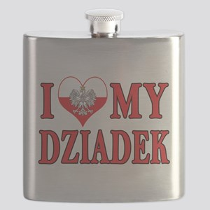 I Heart My Dziadek Flask