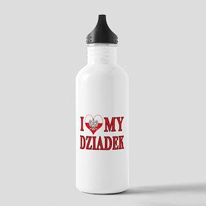 I Heart My Dziadek Stainless Water Bottle 1.0L