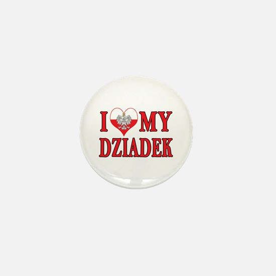 I Heart My Dziadek Mini Button