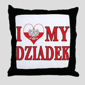 I Heart My Dziadek Throw Pillow