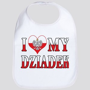 I Heart My Dziadek Flag Bib