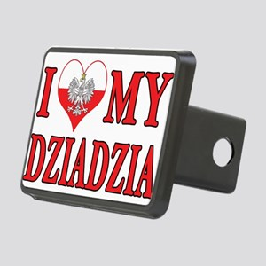 I Heart My Dziadzia Rectangular Hitch Cover