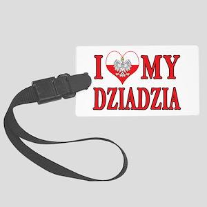 I Heart My Dziadzia Large Luggage Tag