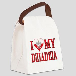 I Heart My Dziadzia Canvas Lunch Bag