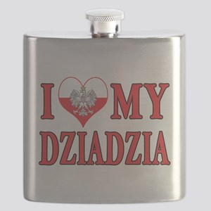 I Heart My Dziadzia Flask