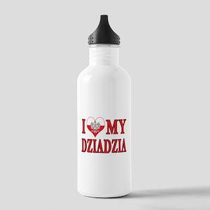 I Heart My Dziadzia Stainless Water Bottle 1.0L