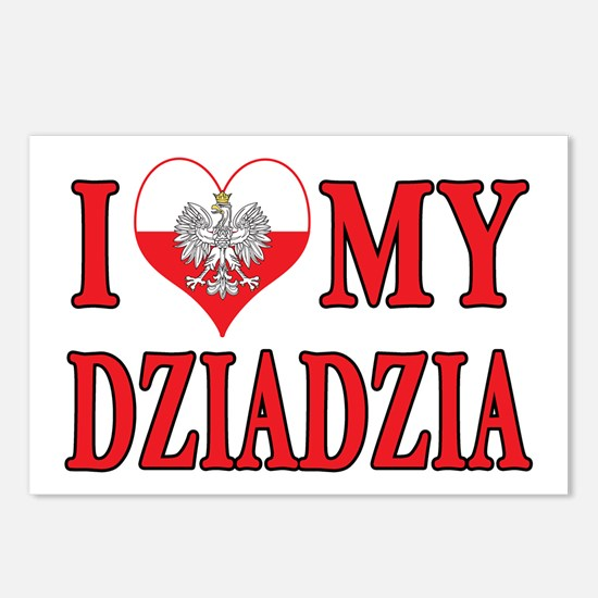 I Heart My Dziadzia Postcards (Package of 8)