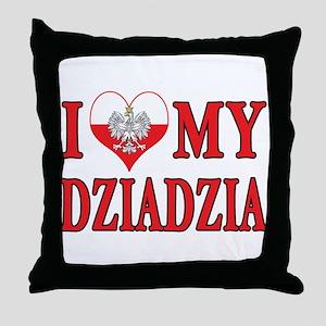 I Heart My Dziadzia Throw Pillow