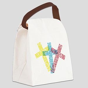 3ColorCross Canvas Lunch Bag