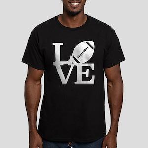 Love Football Men's Fitted T-Shirt (dark)