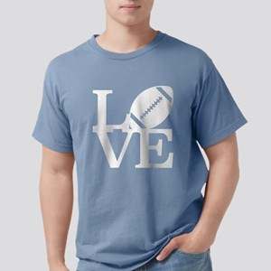 Love Football Mens Comfort Colors Shirt