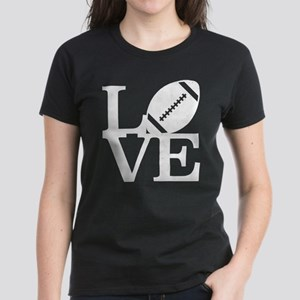 Love Football Women's Dark T-Shirt