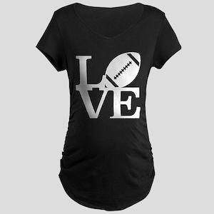 Love Football Maternity Dark T-Shirt