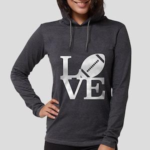 Love Football Womens Hooded Shirt