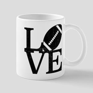 Love Football 11 oz Ceramic Mug